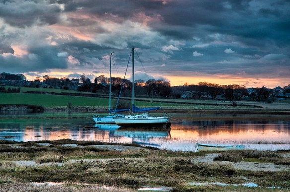 Alnmouth at sunset.