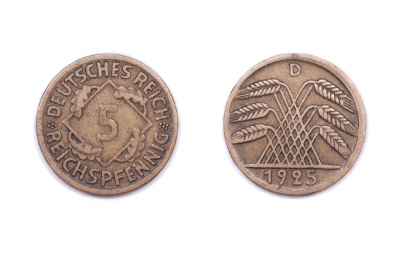 Five Pfennig 1925