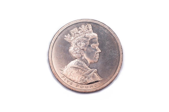 Commemorative coin celebrating 50 years since the coronation of Queen Elizabeth II. Face side.