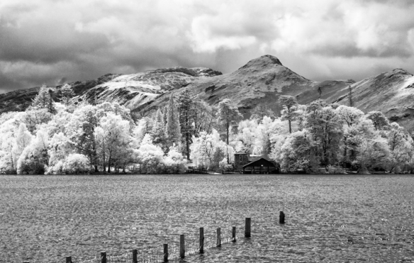 Boathouse on Derwentwater, Near Keswick, Lake District national park, Cumbria.