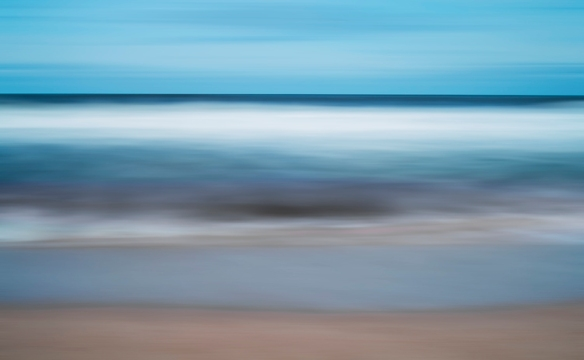 Tidal scene in abstract.