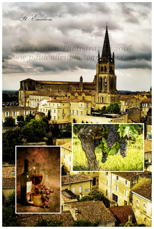 Saint Emilion, one of the great Bordeaux wine regions and a beautiful place to visit. Saint Emilion is found to the North-east side of the City of Bordeaux, Aquitaine, France.