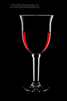 Ornate wine glass.